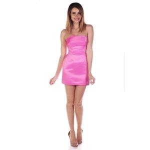 Betsey Johnson Duchess Mini Pink Strapless Dress 4